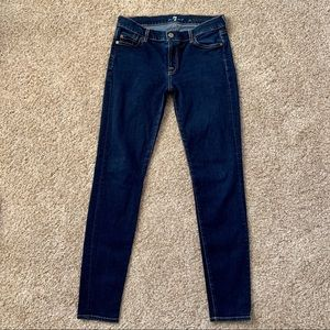 """7 For All Mankind """"The Skinny"""" Dark Wash 